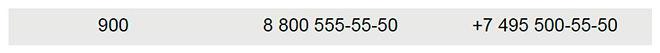 Дляконтакта с клиентами Сбербанк использует триномера
