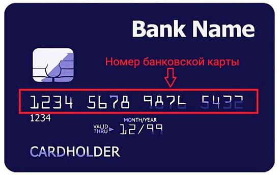 Где смотреть номер карты Сбербанка?